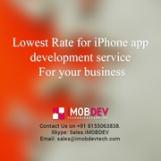 Lowest Rate for iPhone app development service For your business
