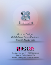 On Your Budget,  Get Bids for Cross Platform Mobile Apps From iMOBDEV
